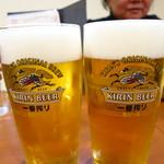 鉄板おおかわ - 生ビール400円