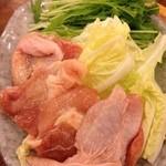 大阪満マル - 大阪満マルの鍋トッピング鶏に野菜(13.11)