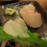 大阪満マル - 大阪満マルの鯛お造りをしゃぶしゃぶに使いました。(13.11)