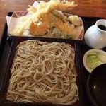 手打蕎麦 たなぼた庵 - 天もりそば(1,250円)