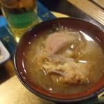 蓮 - 付き出しのあったかスープ最高