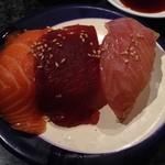 回転寿司 魚浜 - 漬け三種