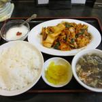 中華料理 大陸 - キムチと豚肉炒め