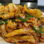 中華料理 大陸 - キムチと豚肉炒めアップ
