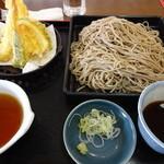 夢庵 - 料理写真:海老天もりそば(2玉)