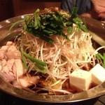 海鮮釜居酒 花火 - もつ鍋(シメの黄金麺が最高‼)