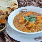 ジャイプール - プローンバターマサラ・・・香辛料で味付けをし、炭火で焼いたエビを煮込んだカレー