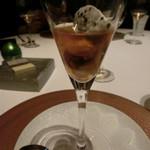 レストラン ラ フィネス - オマールと雲丹、オショトラのキャビアのクリーム