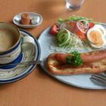 Cafe 茶楽 - ナンドックセット(800円)