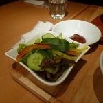 スンドゥブ韓豆 - セットのサラダ