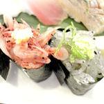 沼津魚がし鮨 - 近海握から、サクラエビ、生シラスのアップ 2014.1