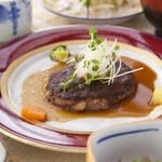 高原の華 - 料理写真:オリジナル あか牛ハンバーグ定食