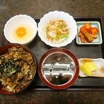 もりや - 牛すじ丼定食 500円