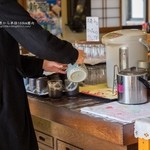 力鶴 - お茶はセルフサービス