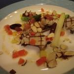 ボンヌマン - 魚料理:真ふぐと鮑のグリエ・ナッツ風味