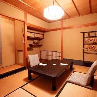 特別なシーンに相応しい、お座敷のプライベートな空間。