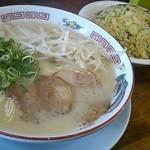 長浜ラーメン長浜一番 - 料理写真:半チャンセット