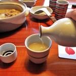 水たき玄海 - 鶏スープの日本酒割り