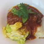 サロン・ド・テ ルピシア - 豚バラ肉のトマト煮込み(赤ワイン風味)