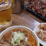23689741 - モツ煮、からあげ、焼鳥、ビール!!