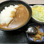 吉野家 - 旨辛カレー330円&生野菜サラダ90円