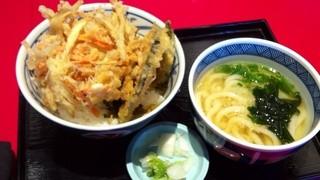 木村屋 - 博多かき揚げ丼+小博多うどんセット¥680