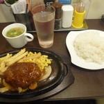 肉マル食堂 - 煮込みハンバーグ\500