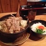 武士道 - 玉卵飯御膳(らーめん680円+玉卵飯170円)