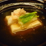 23703932 - ☆土鍋でグツグツ胡麻豆腐と蟹ちゃんの組み合わせ☆