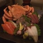 北の味紀行と地酒 北海道 - カニ刺し盛り