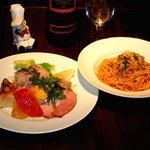 イタリアンレストラン アランチーニ 桜上水 - 料理写真:パスタコースはこんな感じです。これにパンとシャーベットがついて\2,480