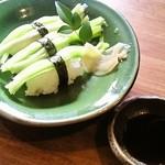 冨來屋本舗 - セットの黄ニラ寿司