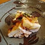 ふじ義 - 焼き物 地鶏と原木椎茸の炭火焼き、山椒醤油