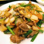 翠鮮楼 - 「豚の脚肉炒め定食(日替り)」豚の脚肉炒め