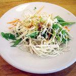 翠鮮楼 - 「揚げ豆腐炒め定食(日替り)」サラダ