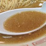 琉王 - 味噌ラーメンのような色で、一口目から、しっかりコクウマを感じます。 醤油や塩分がカッチリきいてますんで、