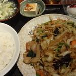 Chinese Dining ナンテンユー - 五目野菜炒め定食:750円