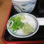 麺どころ かとう - 薬味
