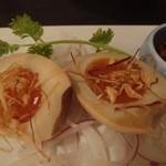 中国料理 桃翠 - 煮玉子の食べるラー油添え。