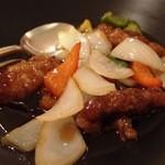中国料理 桃翠 - 黒酢酢豚