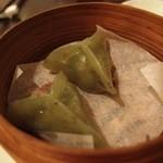 中国料理 桃翠 - 翡翠餃子。