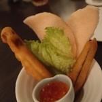 中国料理 桃翠 - 茄子のサクサク揚げスイートチリソース。