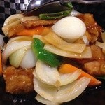 中国料理 龍 - 古咾肉塊(中華の定番、酢豚)945円