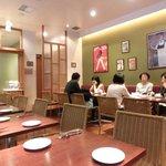 肉ビストロ&クラフトビール ランプラント - 店内のテーブル席の風景です