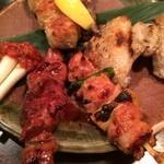 串の味 東八 - 串焼き5本