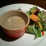 23727277 - 前菜のサラダとキクイモのスープ
