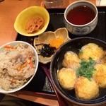 明石焼千栄 - タコ焼き定食‼︎