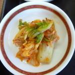 福来苑 - 小鉢のキムチ