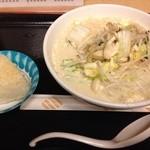 大広間 - 料理写真:高根沢ちゃんぽん白650円プラス焼おにぎり100円