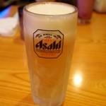 シンズキッチン - ドリンク写真:生ビールのジョッキは凍ってます